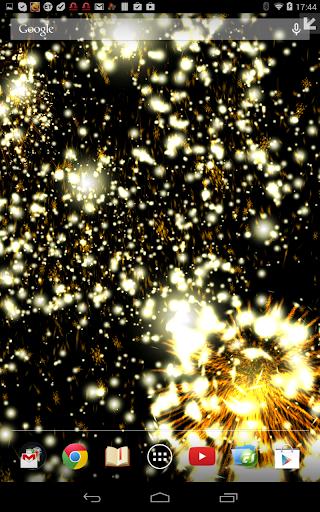 Christmas Fireworks Wallpaper