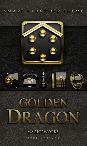 Smart Launcher Theme Golden D