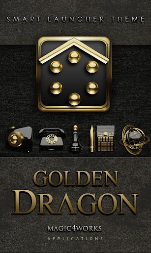 Smart Launcher Theme Golden D
