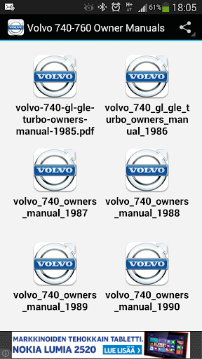 Volvo 740-760 Owner Manuals