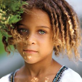 by Bill Morris - Babies & Children Child Portraits ( child, girl, blue eyes, bermuda )