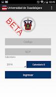 Screenshot of horarioUdg Beta