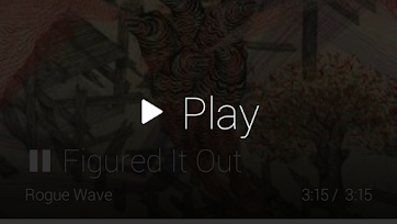 Google Play Music Play action menu option