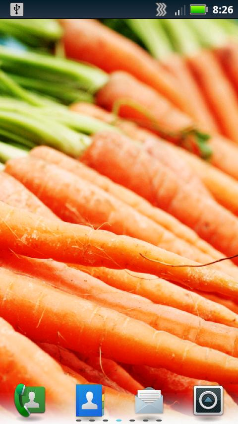 Tasty Veggies Live Wallpaper - screenshot