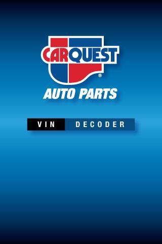 CARQUEST VIN Decoder