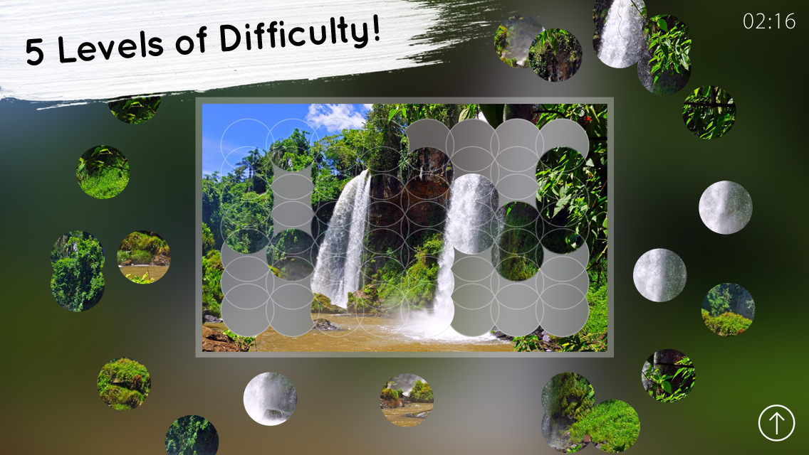 Venn Waterfalls: Circle Jigsaw- screenshot