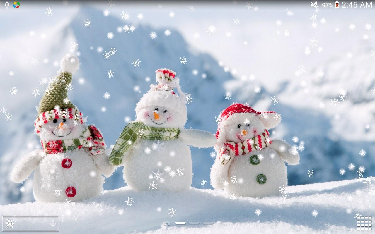 christmas wallpaper snow