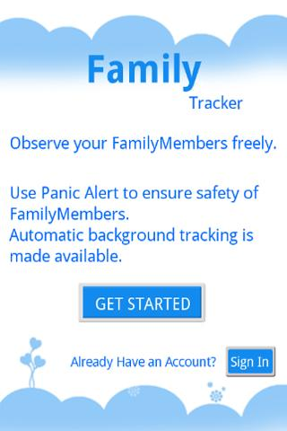 cheapest family tracker- screenshot
