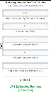 UPS Battery Run Time Estimator Screenshot 1