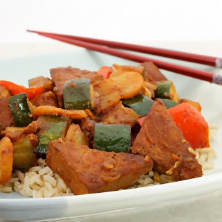 Chinese Barbecued Tofu and Vegetables.
