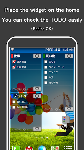TODO LIST - Manage in widget -