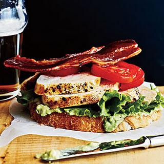 Open-Faced Chicken Club Sandwiches