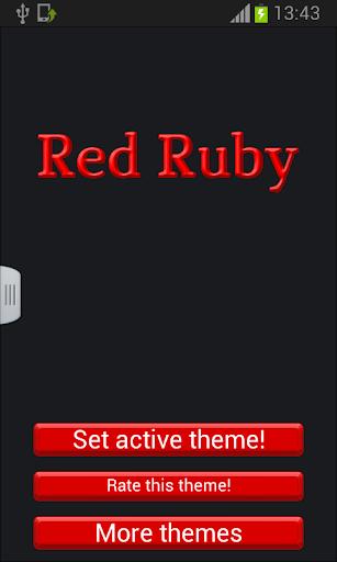 紅色的紅寶石鍵盤皮膚