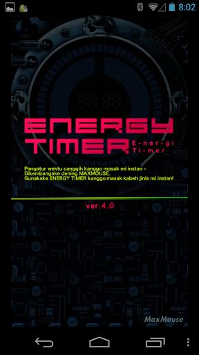 Energy Timer Javanese English