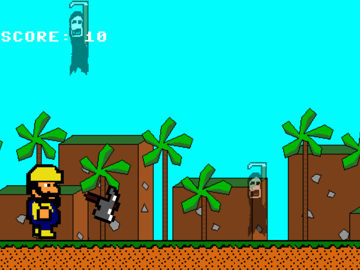 8-Bit Endless Runner- screenshot