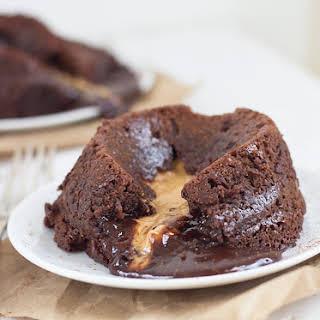 Peanut Butter Chocolate Lava Cakes.