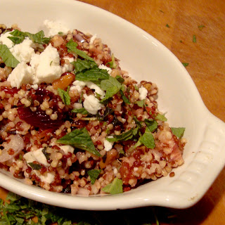 Quinoa Salad with Feta, Blood Oranges and Mint