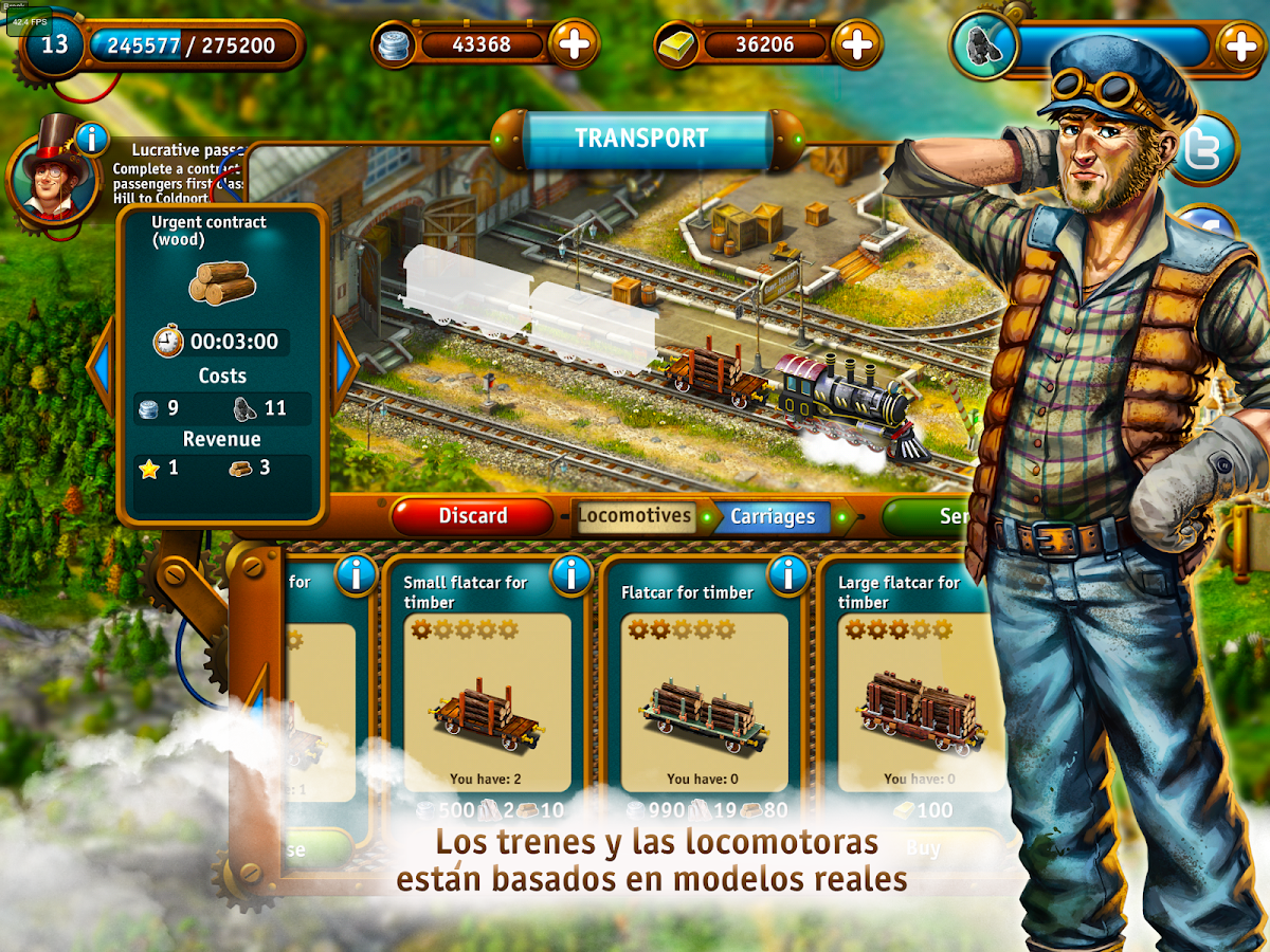 Transport Empire Steam Tycoon MOD APK