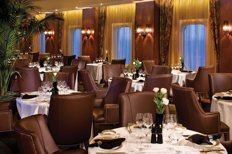 While sailing on Seven Seas Mariner, enjoy the classic steakhouse cuisine in the intimate Prime 7 dining room. Prime 7 is by reservation only (no extra charge).