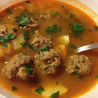 Romanian Sour Soup With Meatballs