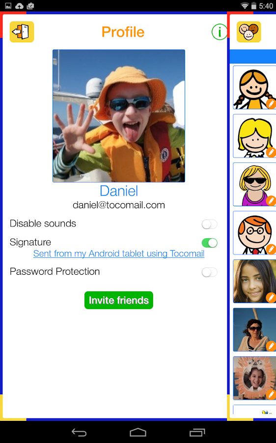 Tocomail - Email for Kids- screenshot
