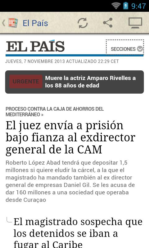 Prensa de España - screenshot