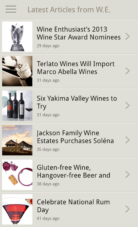 Wine Enthusiast Tasting Guide- screenshot