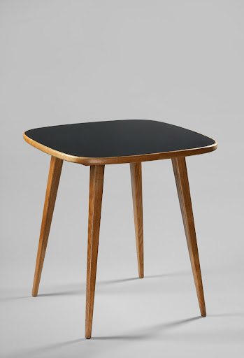 Table with black glass top