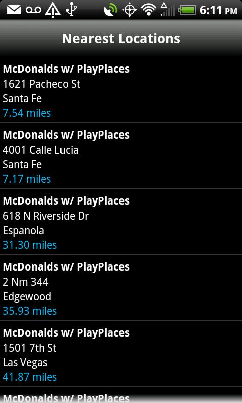 PlayPlaces - McDonalds & More - screenshot