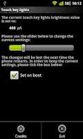 Screenshot of LG Optimus 2x touch key lights