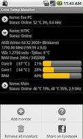 Screenshot of Core Temp Monitor