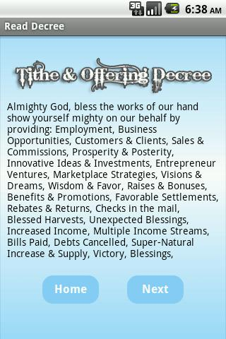 Tithe & Offering Decree - screenshot