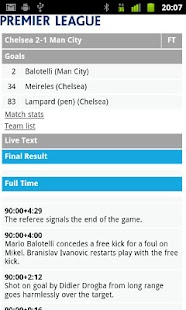 EPL Scores- screenshot thumbnail