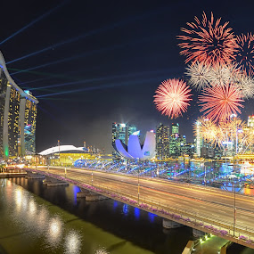 CNY 2014 by Kafoor Sammil - Abstract Fire & Fireworks
