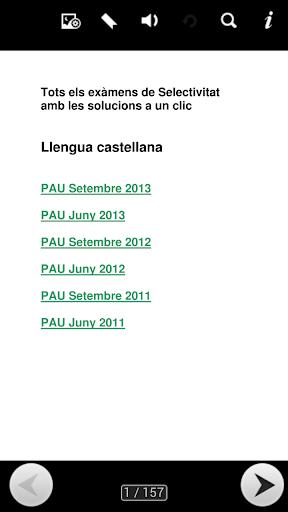 Exàmens PAU Castellà