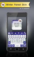 Screenshot of Winter Forest for TS Keyboard