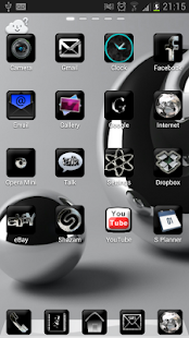 Silver Black Theme GO Launcher - screenshot thumbnail
