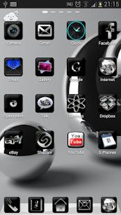 Silver Black Theme GO Launcher - screenshot thumbnail