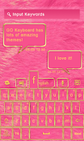 Screenshot of GO KEYBOARD LUXURY PINK THEME
