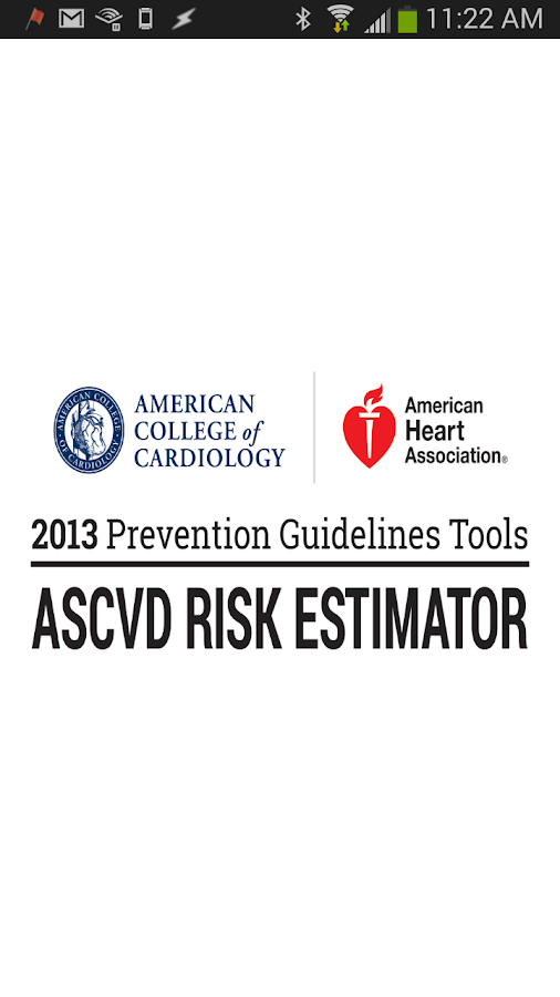 ASCVD Risk Estimator- screenshot