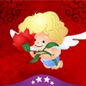Kupidos Rosen der Liebe