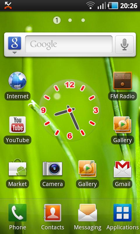 Glass Clock Widget - screenshot