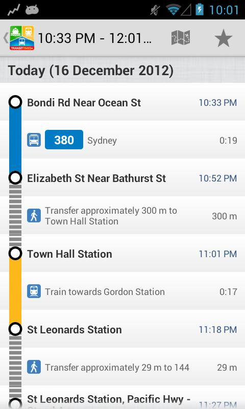 TransitTimes+ Free - screenshot