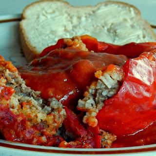 Grandma's Stuffed Peppers.