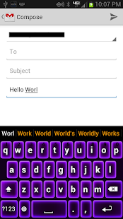 Neon Purple Keyboard - screenshot thumbnail