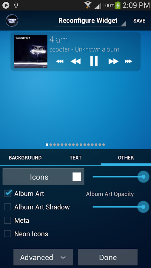 Poweramp Standard Widget Pack - screenshot