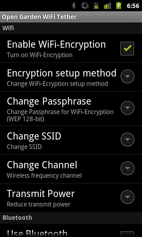 WiFi Tethering- screenshot