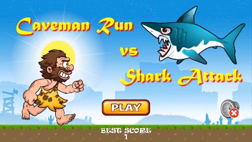 穴居人鯊魚攻擊
