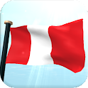 Peru Flag 3D Free Wallpaper icon