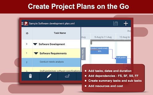 Gantt project gantt project gantt pro hd plan for Project planner hd